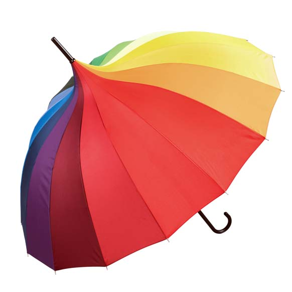 Oriental Rainbow Ornate Pagoda Style Occasion Umbrella (17004)