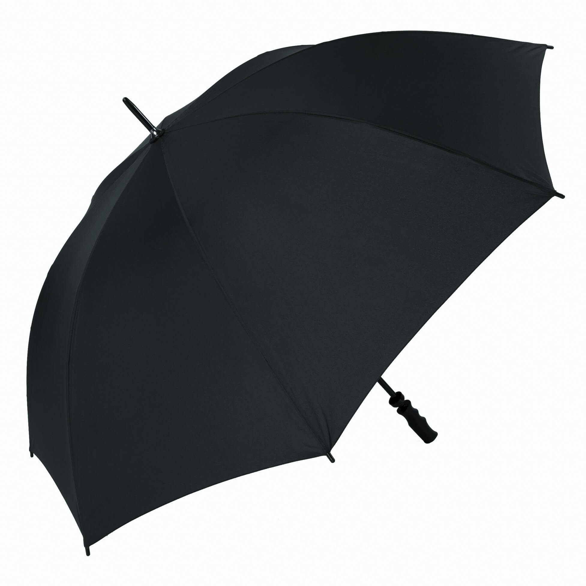 Wind Resistant Fibrelight Large Black Golf Umbrella (3473P)